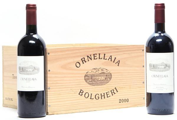 1 bt. Ornellaia, Tenuta dell'Ornellaia, Bolgheri 2006 A (hf/in).  etc. Total 2 bts.