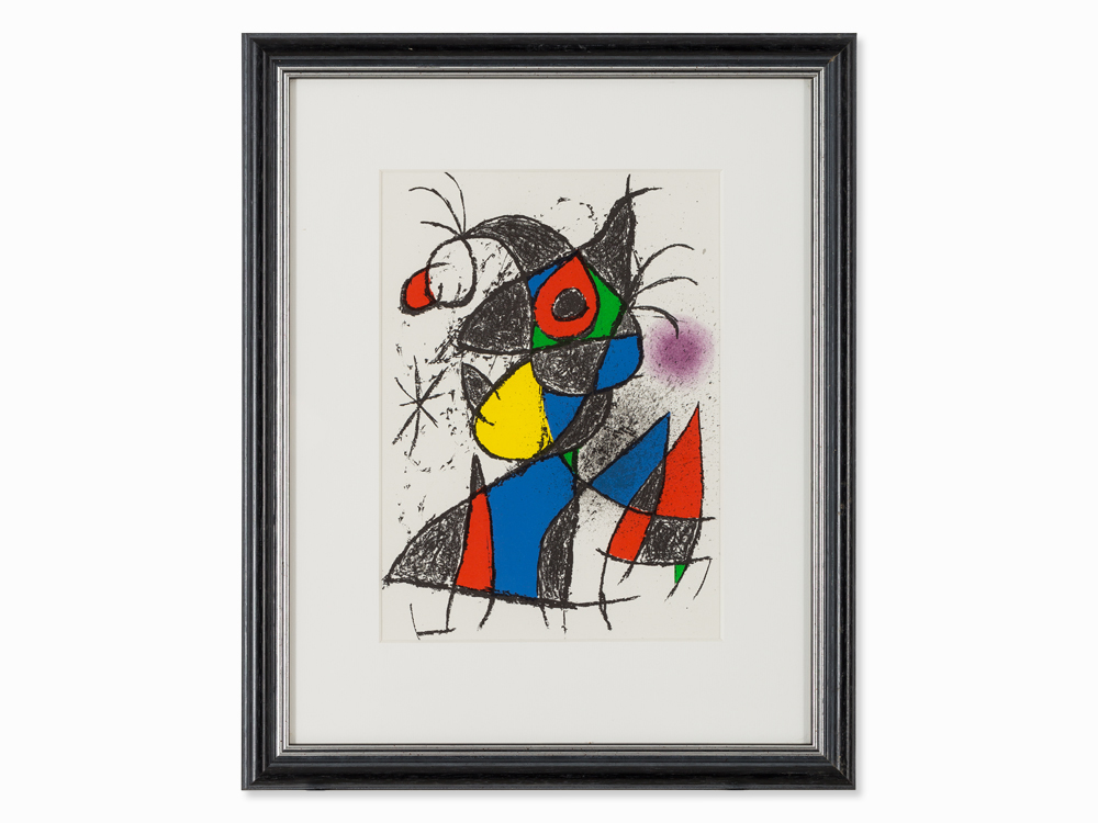 Joan Miró, Plate III from 'Peintures, gouaches, dessins', 1972