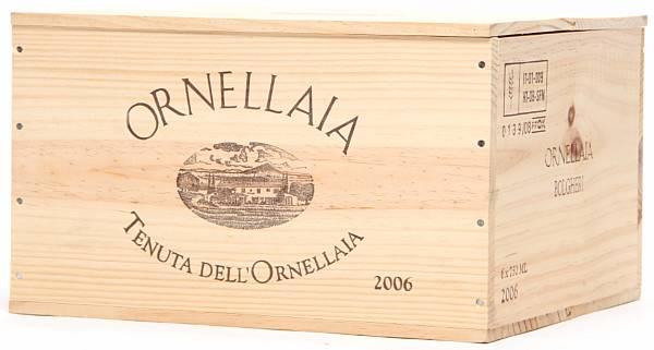 6 bts. Ornellaia, Tenuta dell'Ornellaia, Bolgheri 2006 A (hf/in). Owc.