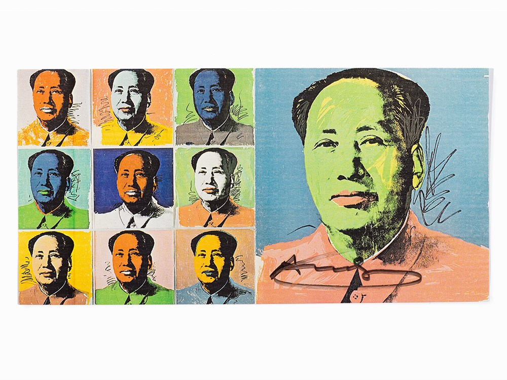 Andy Warhol, after Mao Tse-Tung, Edition Announcement, 1972