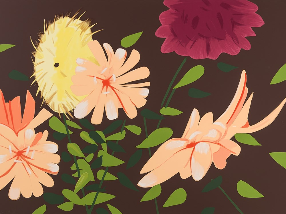 Alex Katz, Late Summer Flowers, Serigraph in Colors, 2013