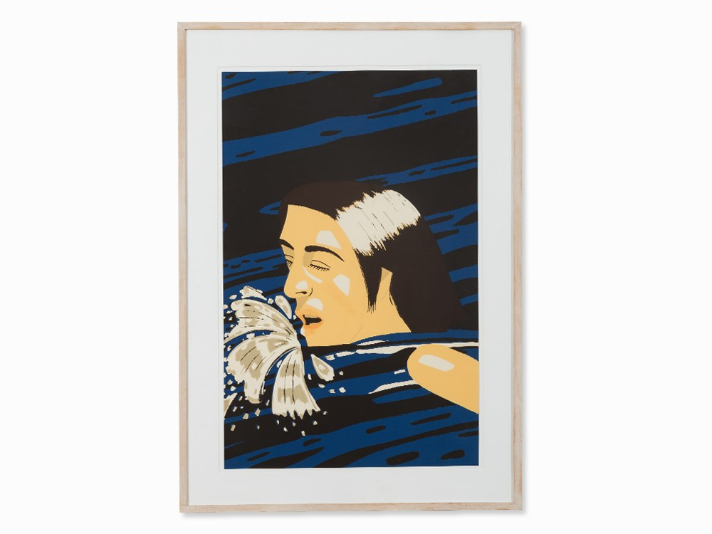 Alex Katz, Olympic Swimmer, Serigraph in Colors, 1976