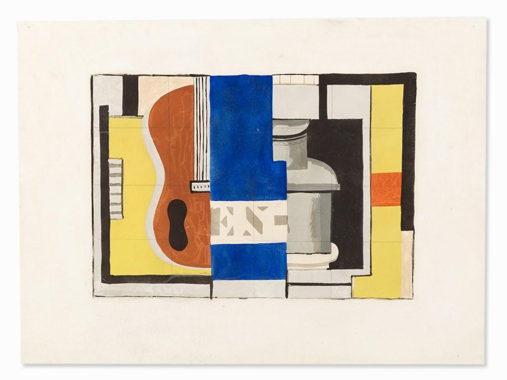 After Fernand Léger, L'Encrier, Pochoir in Colors, 1933