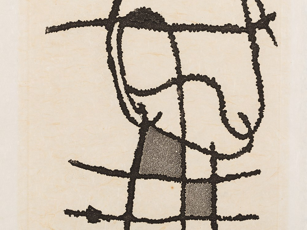Joan Miró, Le Vent Parmi Les Roseaux, Aquatint Etching, 1971