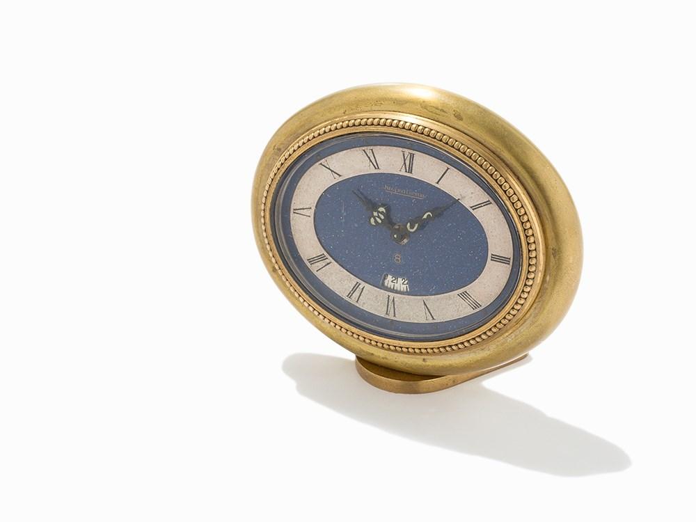 Jaeger-LeCoultre 8-Day Desk Alarm Clock, Switzerland, c.1950's