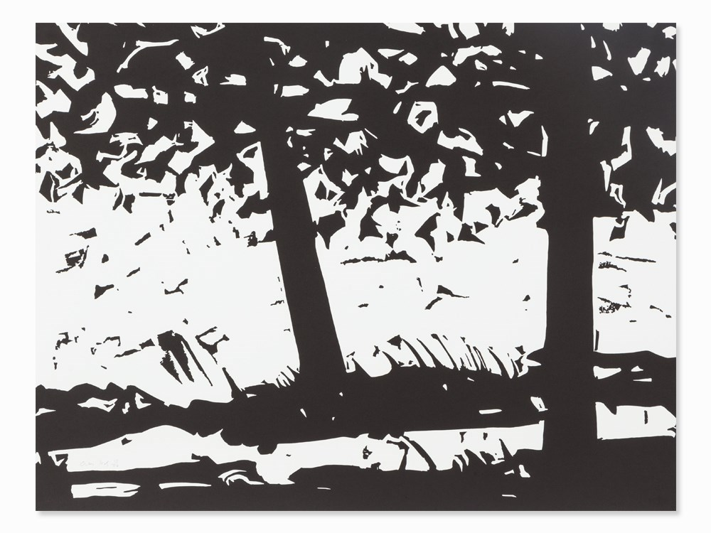 Alex Katz, Maine Woods, Woodcut, 2013