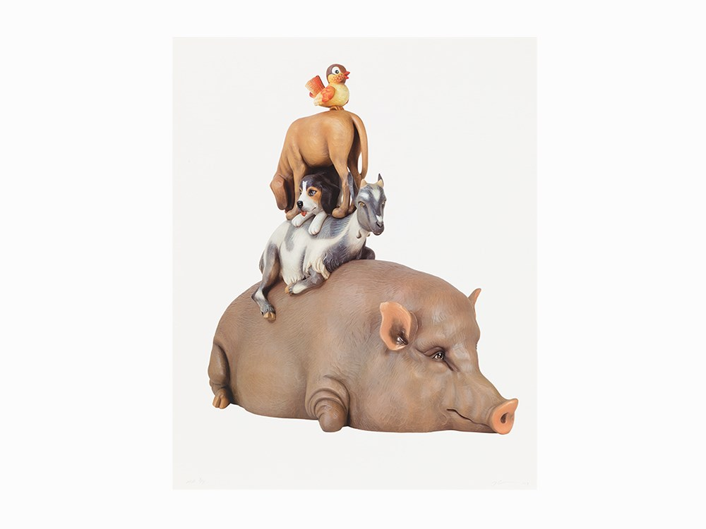 Jeff Koons, 'Stacked Animals', Photolithograph, 2003