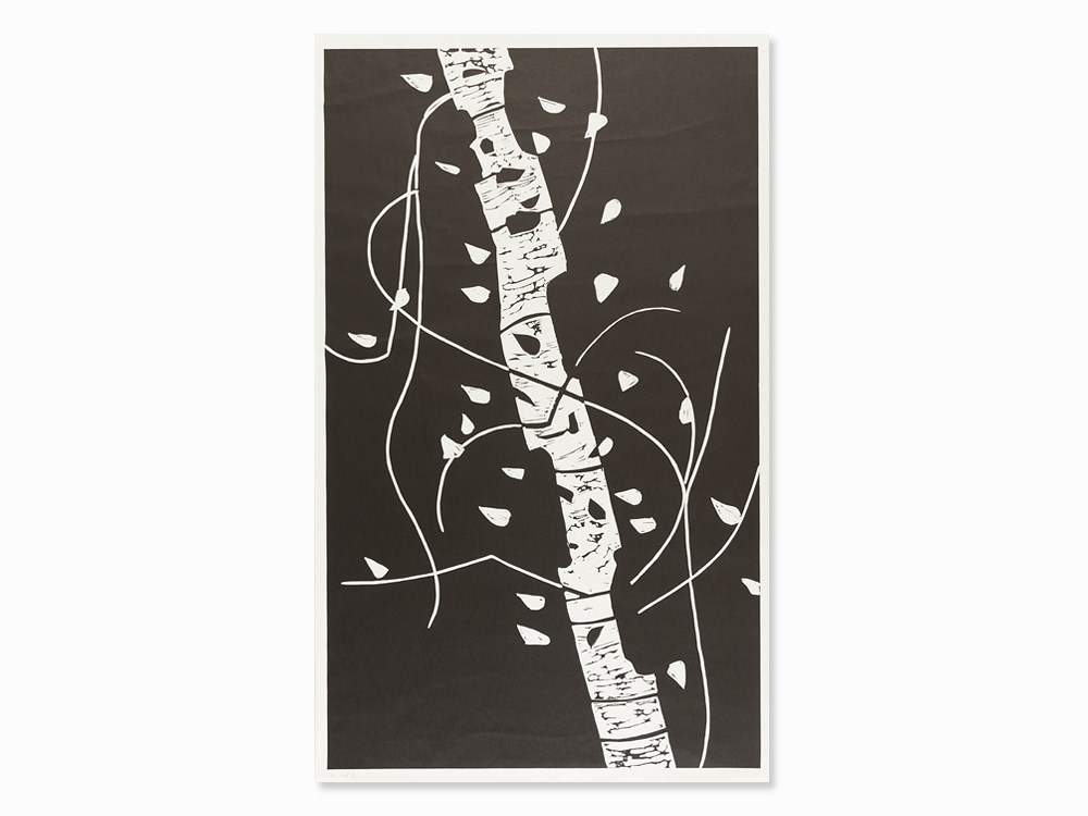 Alex Katz, Large Birch, Linoleum Cut, USA, 2004