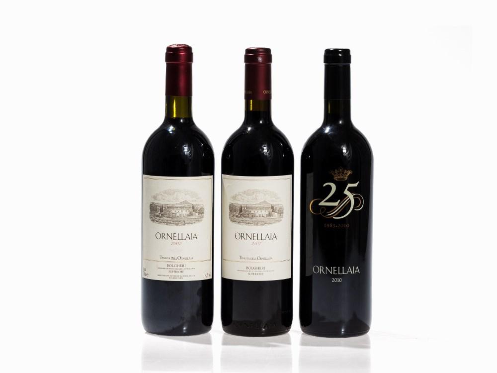 3 Bottles 2002/2007/2010 Ornellaia, Bolgheri