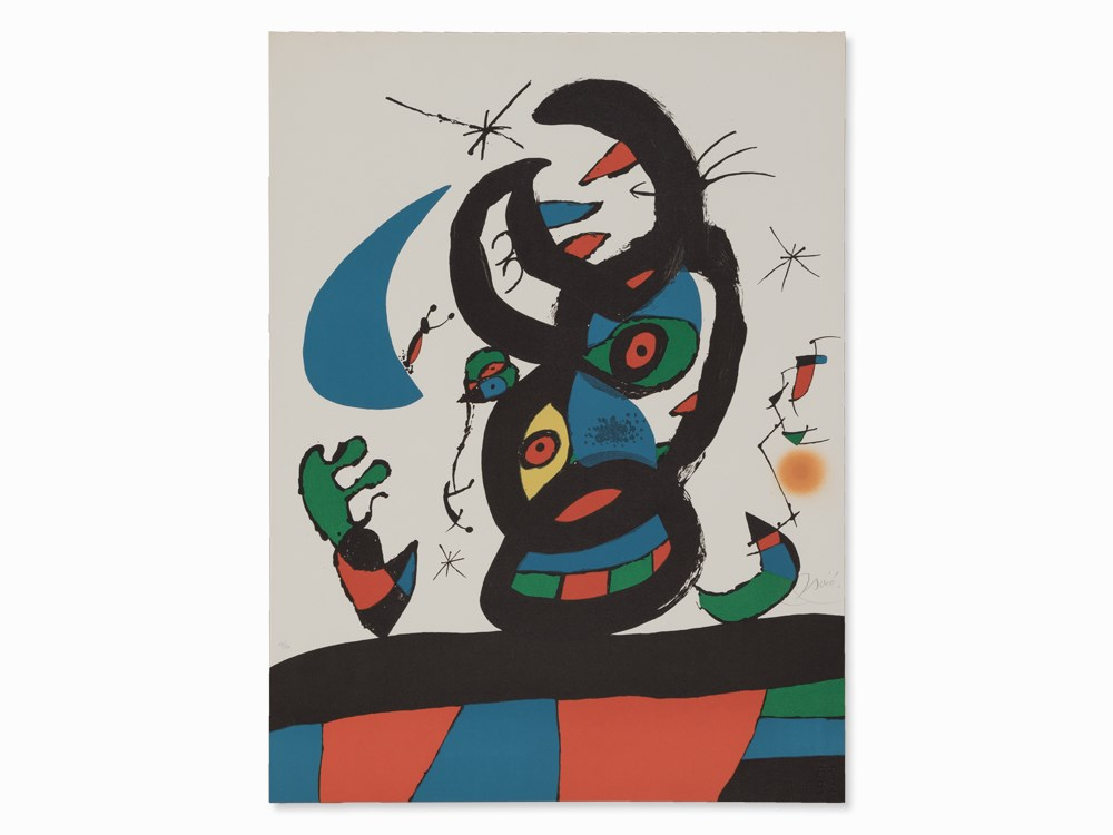 Joan Miró, Montroig I, Lithograph in Colors, 1974