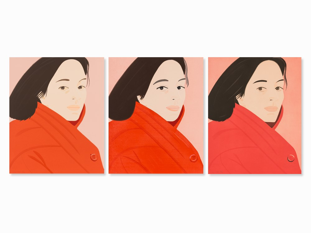 Alex Katz, Brisk Day I, II and III, Set of 3 Prints, 1990