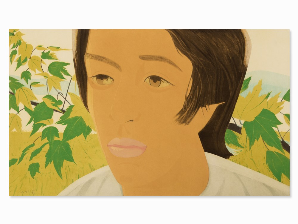 Alex Katz, Boy with Branch 1, Aquatint in Colors, 1975