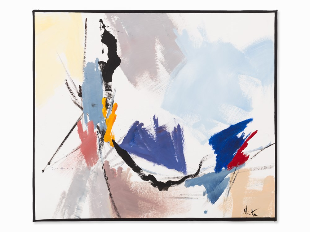 Jean Miotte, Abstract Composition, Acrylic, c. 1990