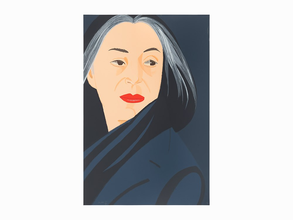 Alex Katz, Color Screenprint, 'Black Scarf', USA, 1996