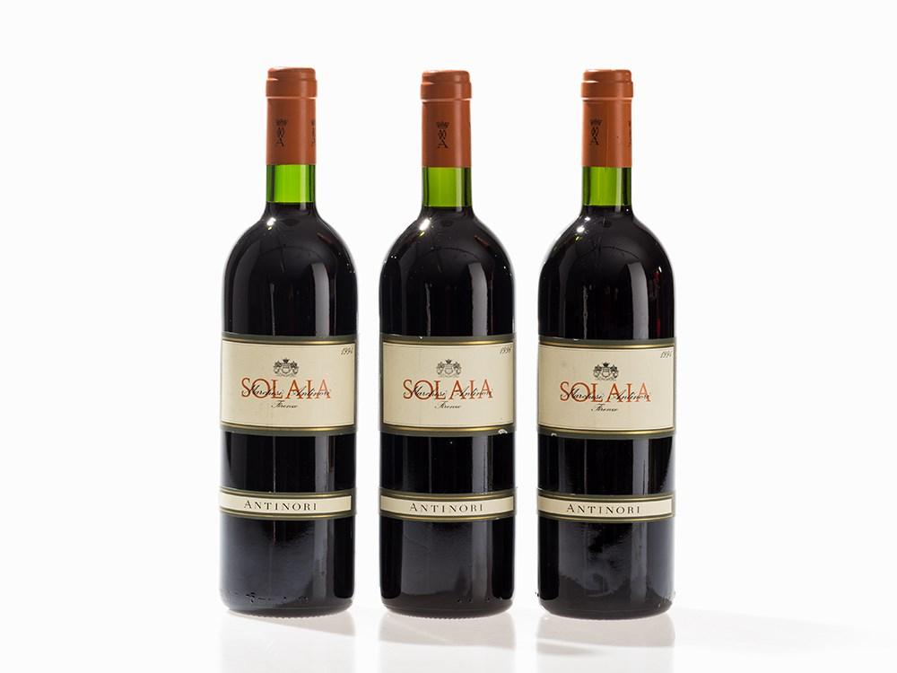3 Bottles 1994/1996 Antinori Solaia, Toscana IGT