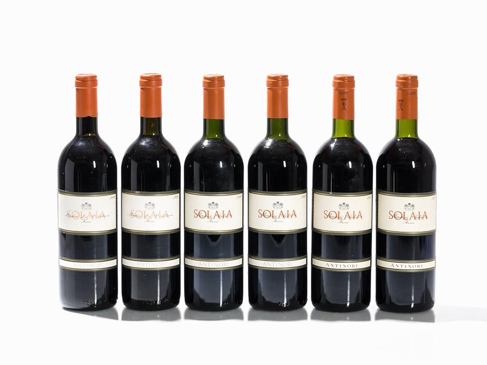 6 Bottles 1986/1989/1991 Antinori Solaia, Vino da Tavola