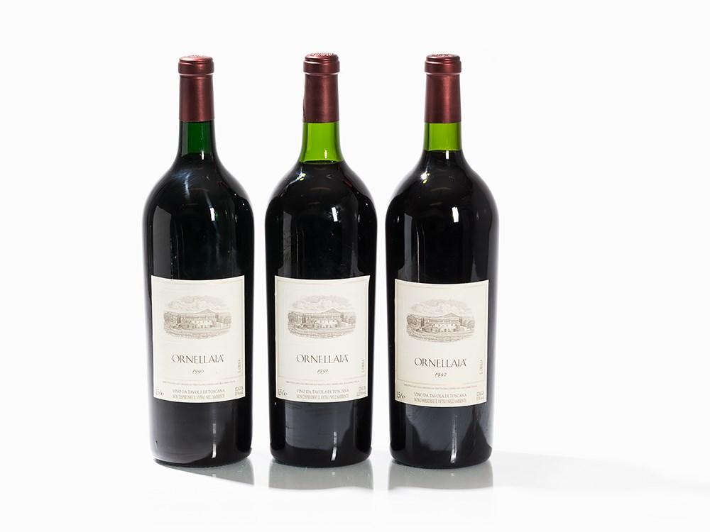 3 Magnum Bottles 1990/1991/1992 Ornellaia, Bolgheri