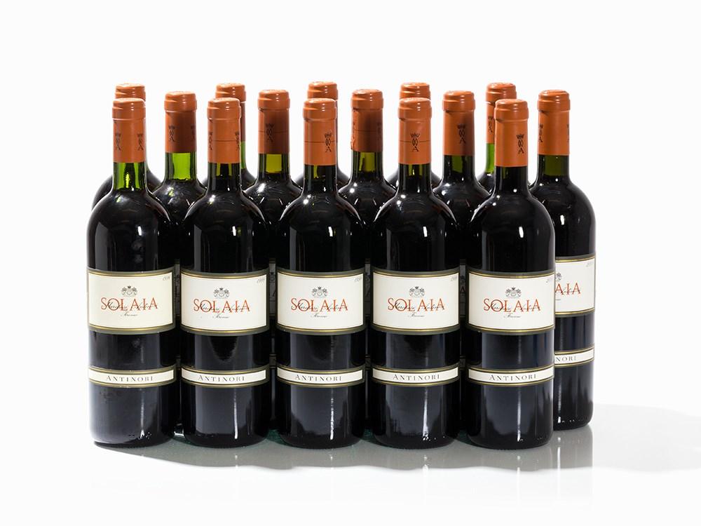 15 Bottles 1996/1999/2001 Antinori Solaia, Vino da Tavola