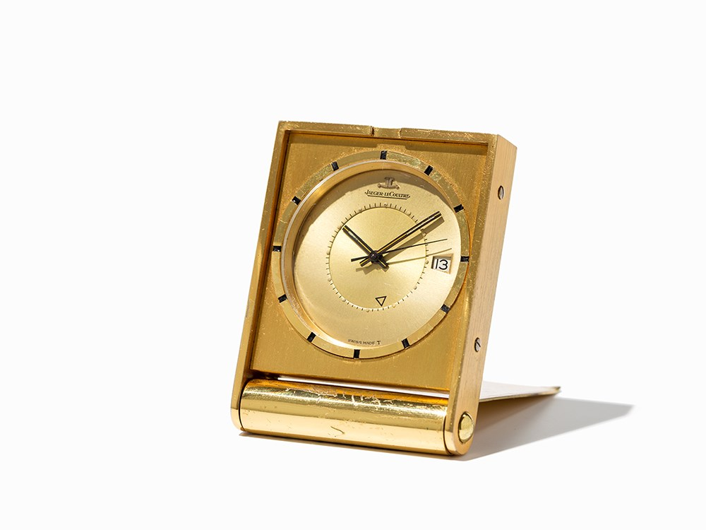 Jaeger LeCoultre Travel Alarm Clock, Switzerland, C. 1965