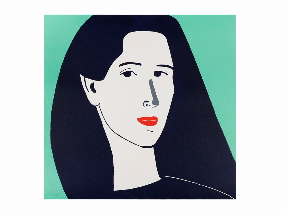 Alex Katz, Color Linocut, 'Diana', USA, 2014