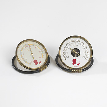 desk barometer and thermometer