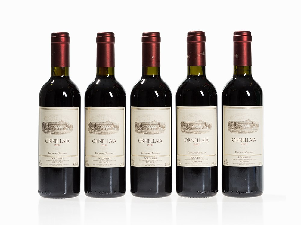 5 Half Bottles 2003 Ornellaia, Tuscany