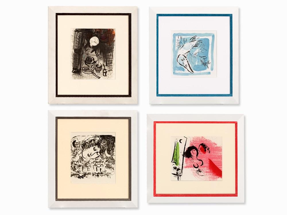 Marc Chagall (1887-1985), 4 Lithographs, Paris, 1956/1969