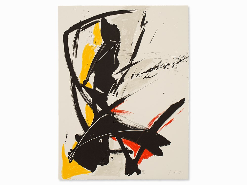 Jean Miotte (b. 1926), Lithograph, 'Des mots pour toi…', 2000