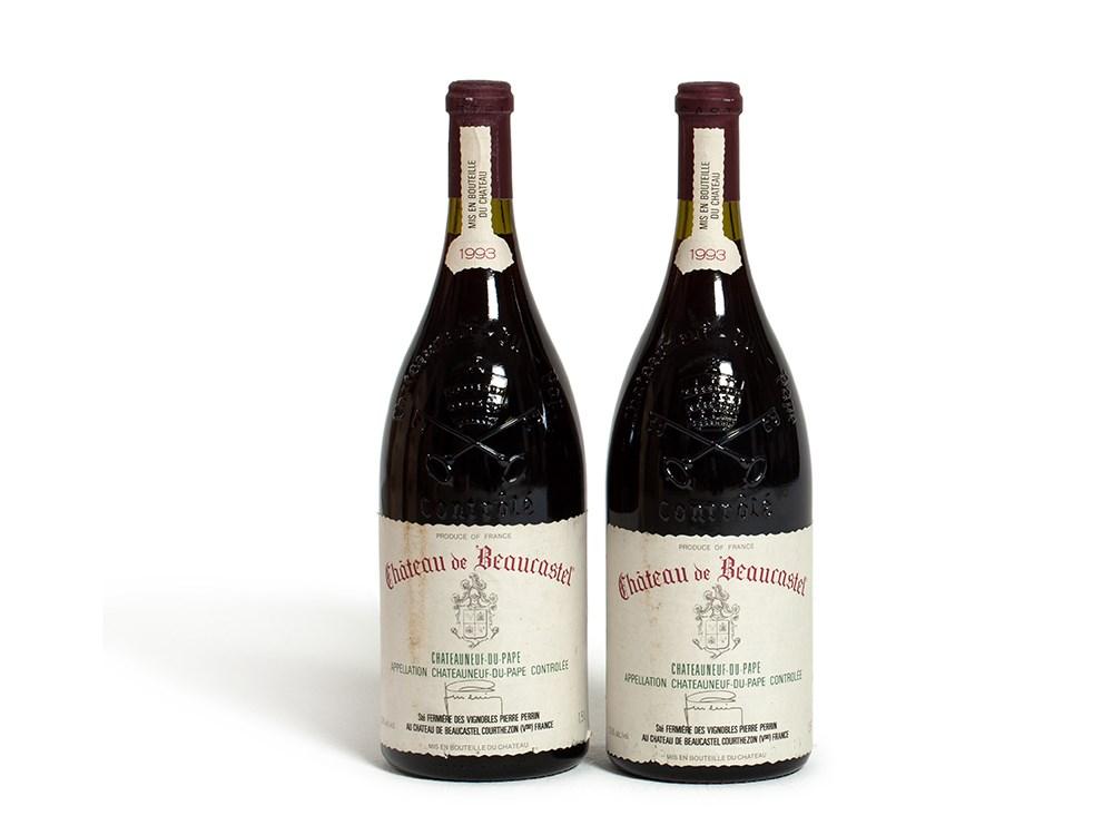 2 magnum bottles 1993 Château de Beaucastel, Rhône