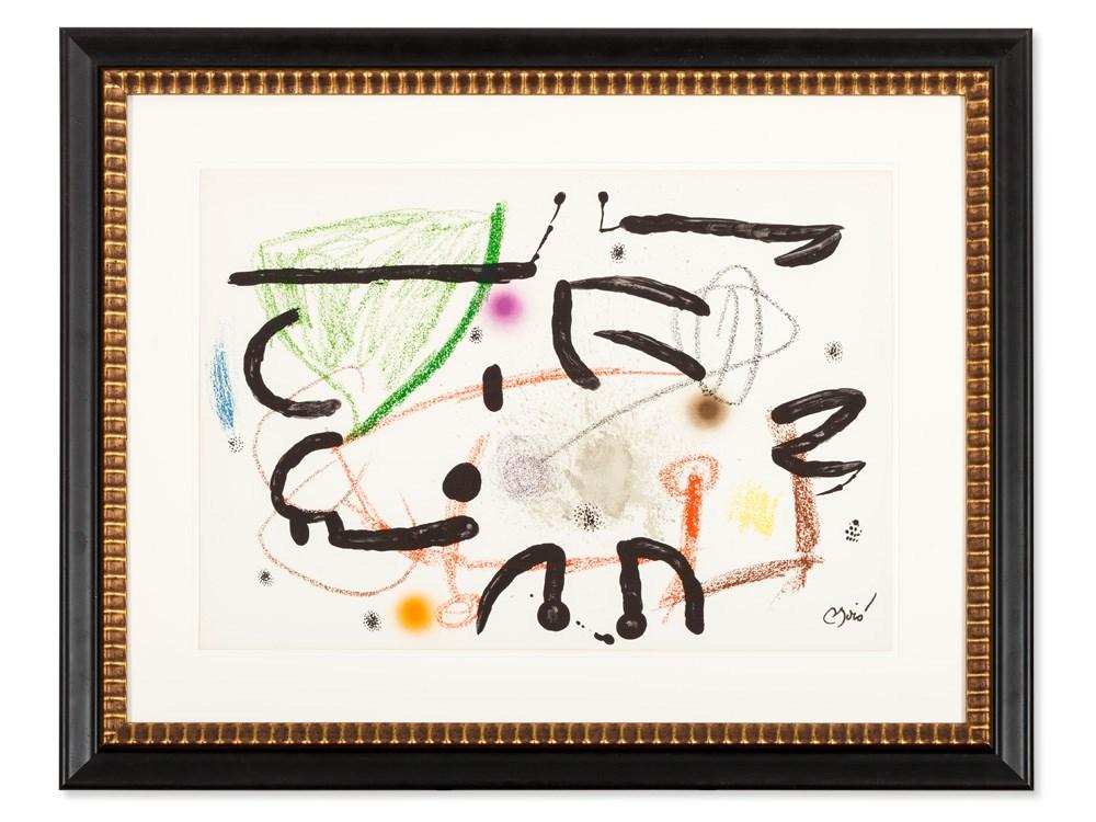 Joan Miró (1893-1983), Color Lithograph, Series Maravillas, ´75