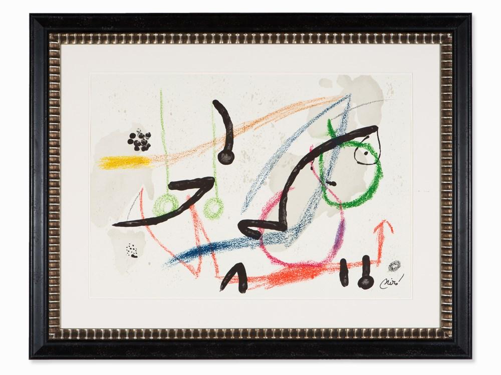 Joan Miró (1893-1983), Lithograph, Maravillas, Signed, 1975
