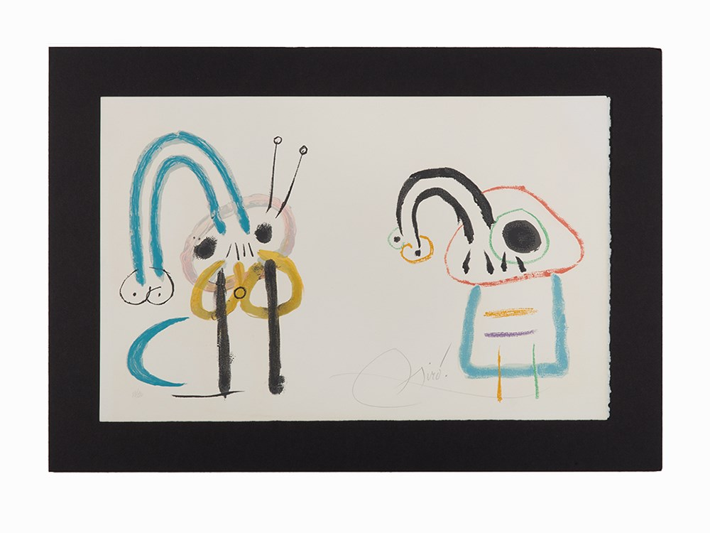 Joan Miró, Lithograph, Untitled from 'L'Enfance d'Ubu', 1975