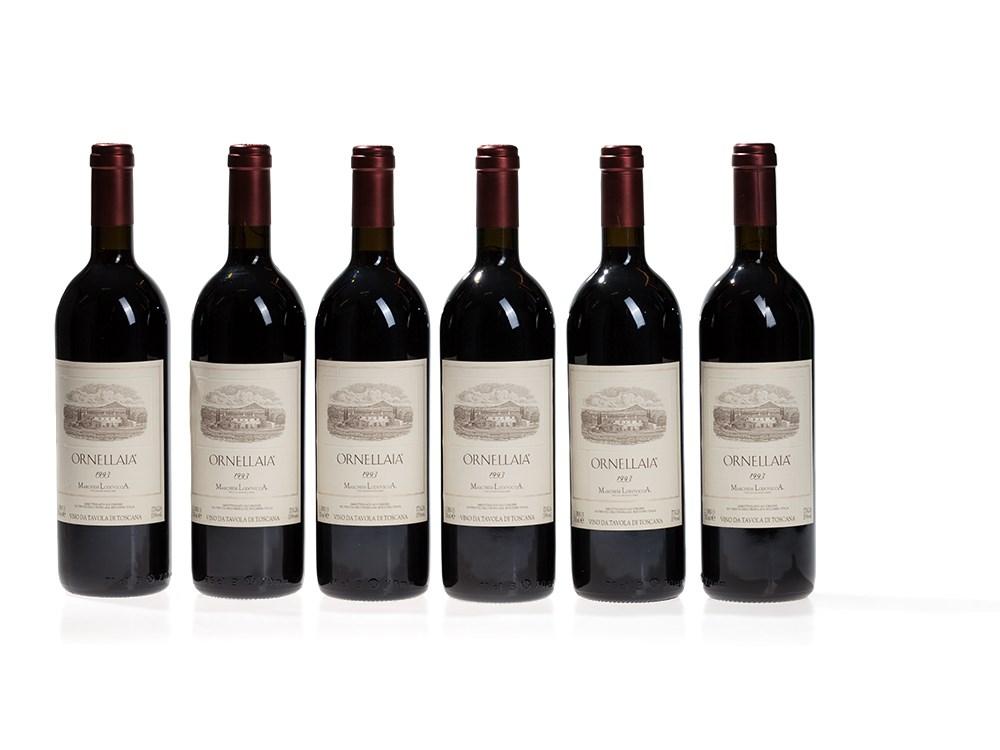 6 bottles 1993 Ornellaia, Bolgheri