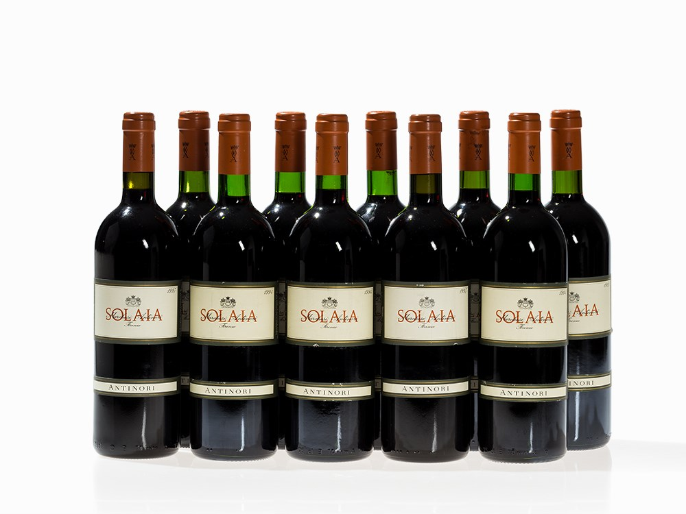 10 Bottles Antinori Solaia, 1994, 1995 and 1997 Vintages