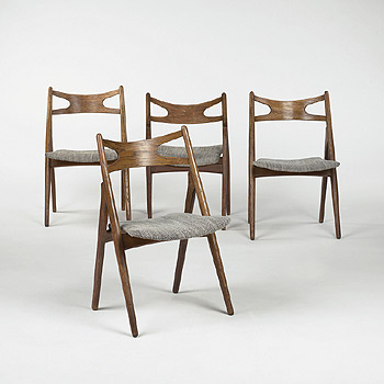 dining chairs model CH 29, set of four