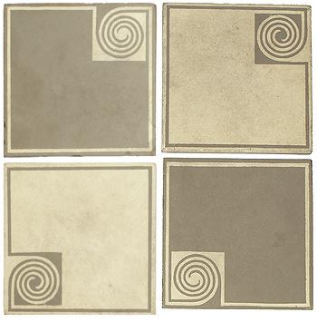 tiles, set of four