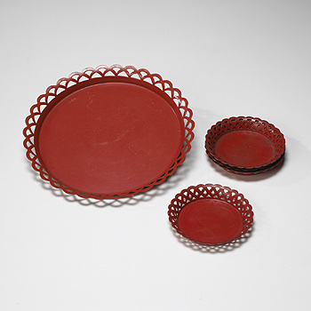 serving tray and six coasters