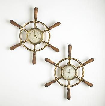 barometer and clock