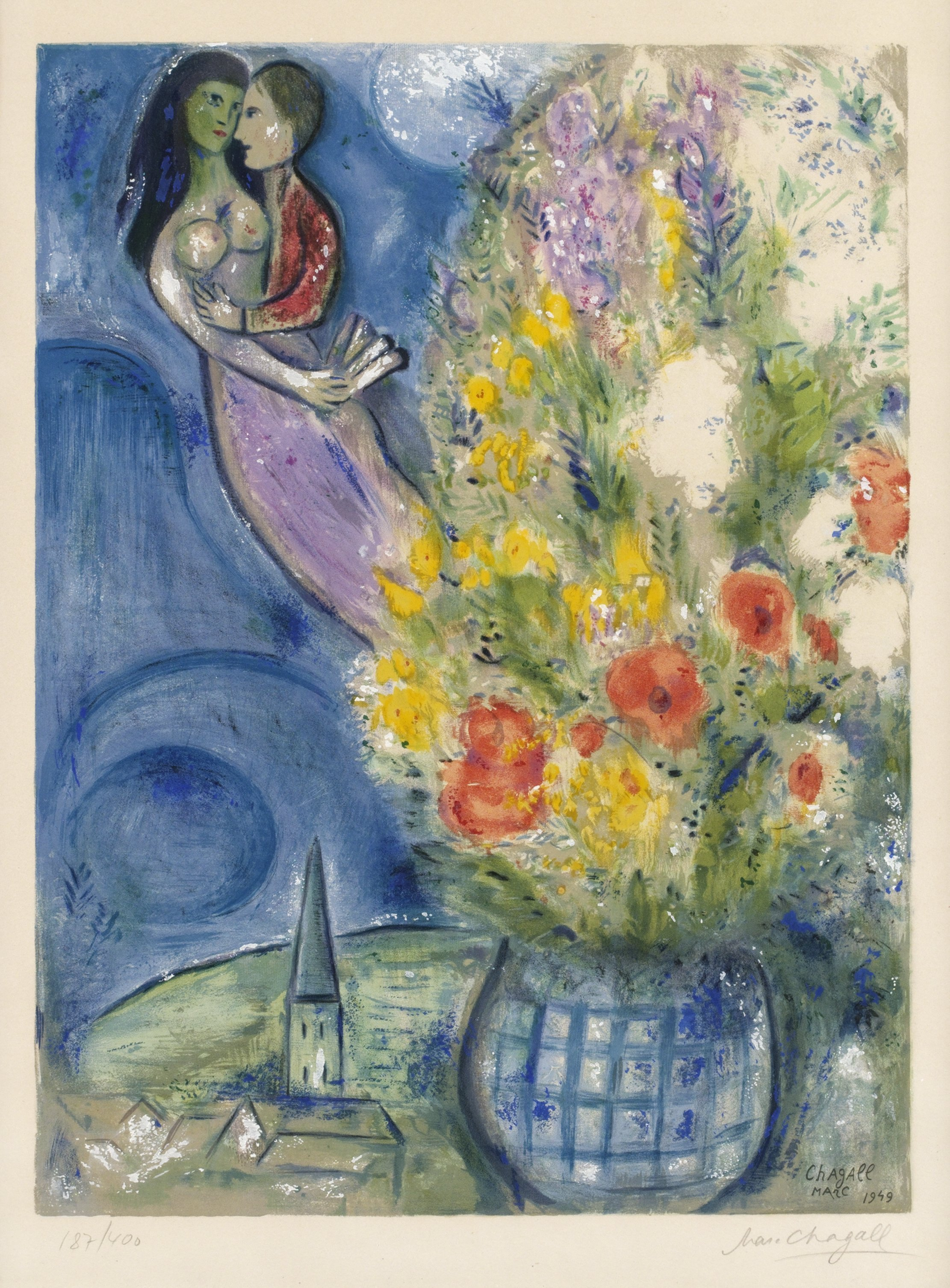 """MARC CHAGALL (After), """"Les Coquelicots""""."""