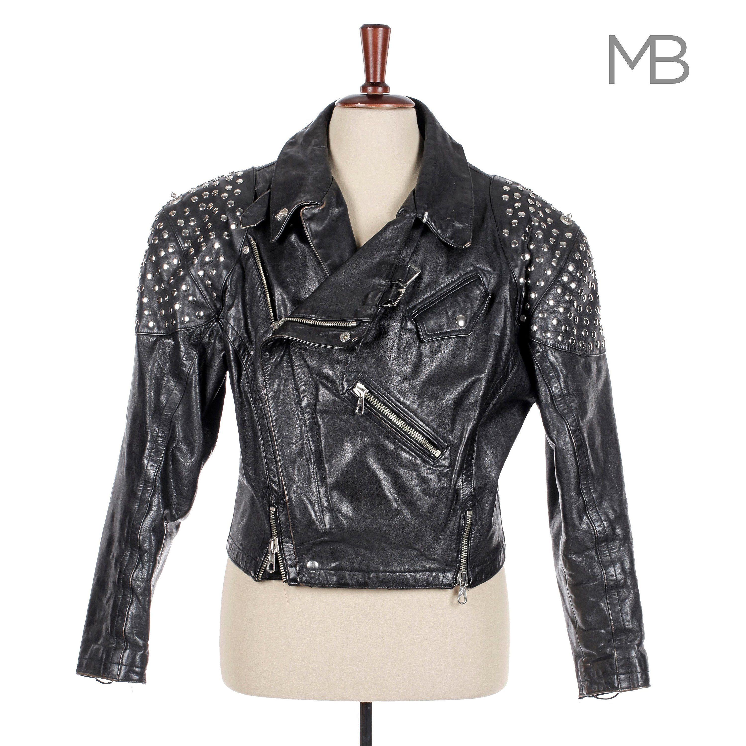 JEAN-PAUL GAULTIER, a men's black leather studed jacket from the late 1980s.