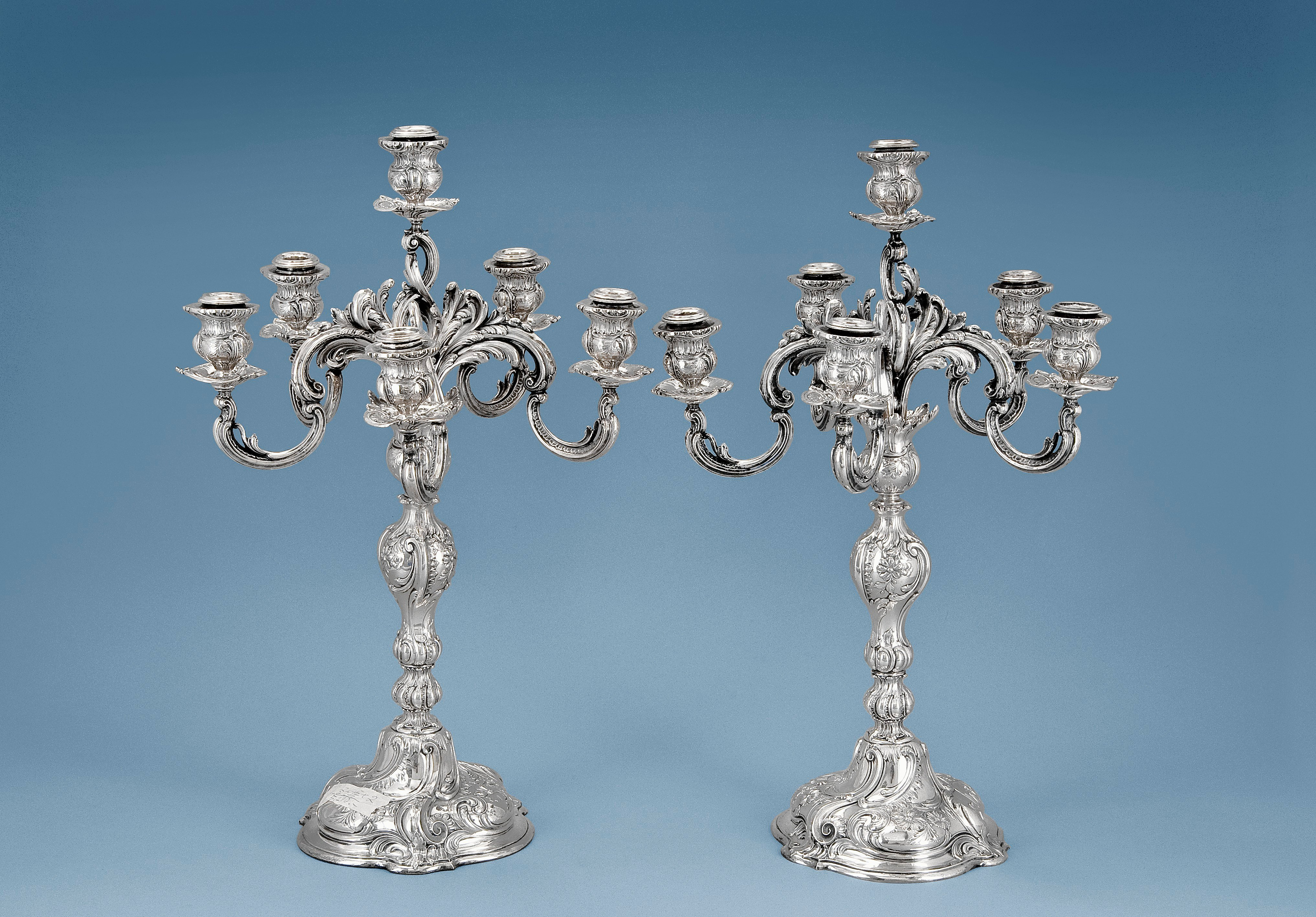 A PAIR OF CANDELABRAS.