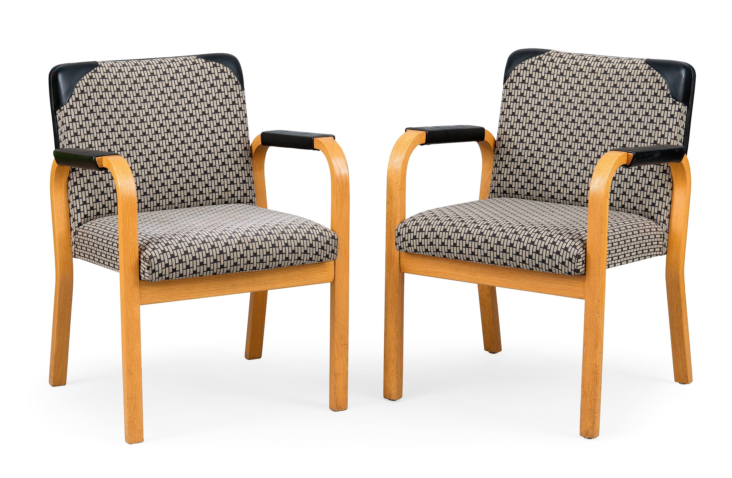 ALVAR AALTO, A PAIR OF ARMCHAIRS, No 46.