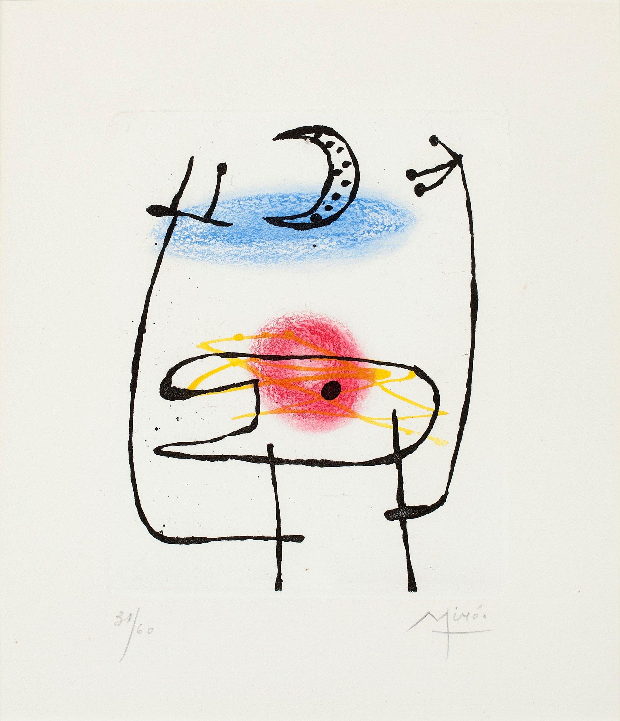 """JOAN MIRÓ, Untitled, from: """"La Bague d'Aurore""""."""