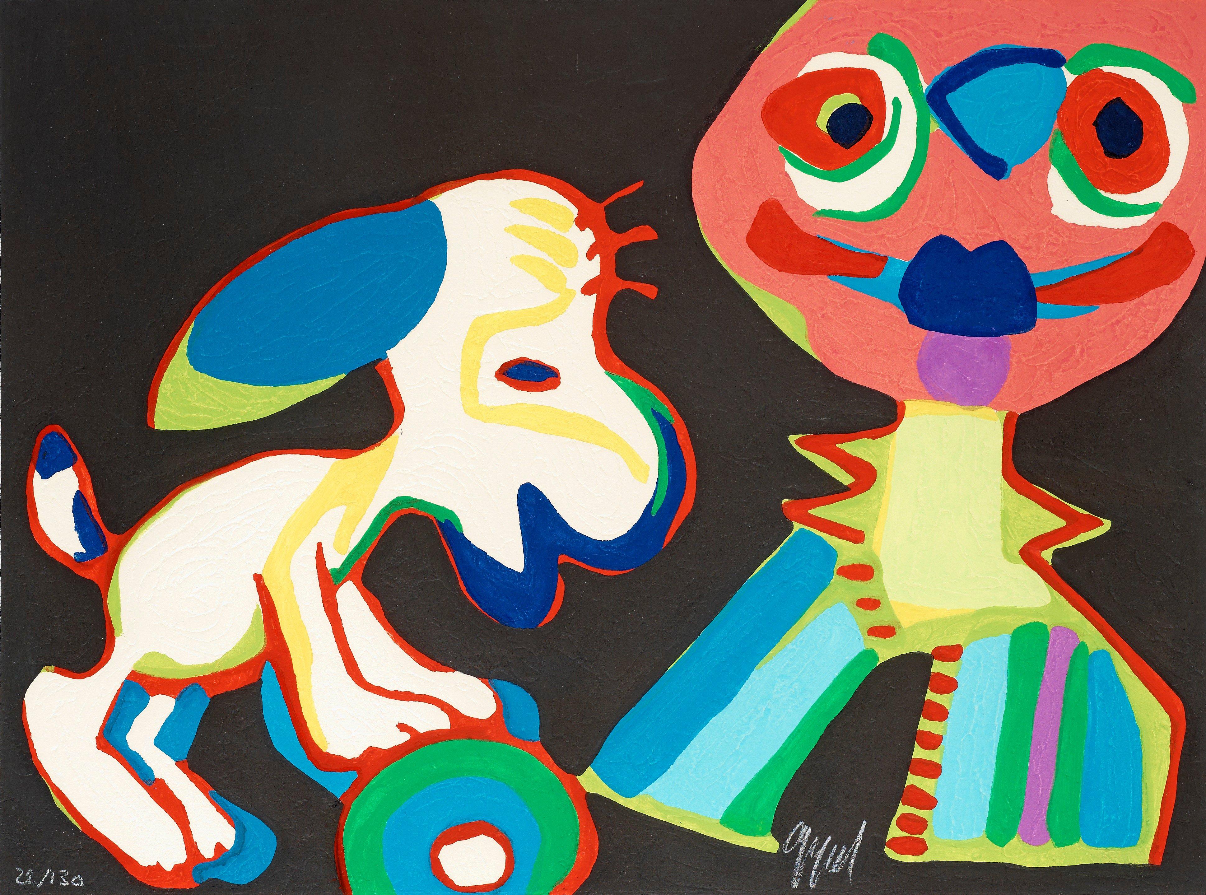 """KAREL APPEL, """"Sur la piste de Manhattan"""", from: """"La Cirque""""."""