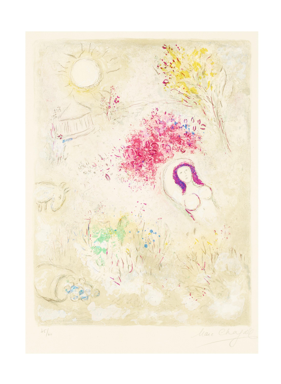 """MARC CHAGALL, """"Chloé"""", from: """"Daphnis et Chloé""""."""