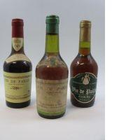 3 bouteilles 1 bt : VIN DE PAILLE 1983 Claude Joly -