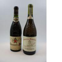 2 bouteilles 1 bt : CHATEAUNEUF DU PAPE 2002 Château de Beaucastel. Ro