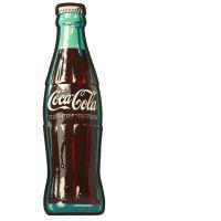 COCA-COLA COMPANY - Importante plaque publicitaire 'COCA-COLA' - 1969