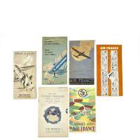 AIR FRANCE - Six brochures publicitaires de conseil au voyageurs