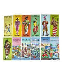 AIR FRANCE - 12 brochures publicitaires de présentation de destination